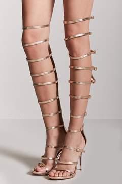 Forever 21 Metallic Gladiator Heels