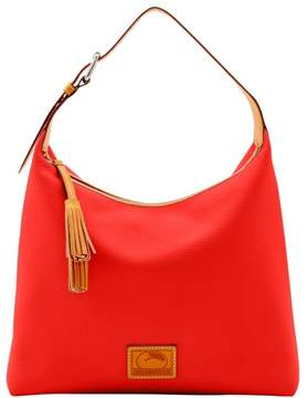 Dooney & Bourke Patterson Leather Large Paige Sac Shoulder Bag - PERSIMMON - STYLE