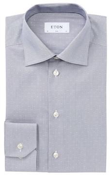 Eton Poplin Trim Fit Dress Shirt