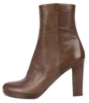 Prada Leather Mid-Calf Boots