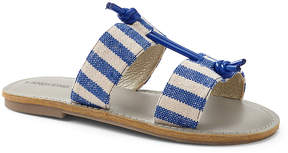 Lands' End Persian Cobalt Stripe Knotted Sandal - Girls