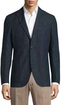 Boglioli Micro Plaid Wool Blazer