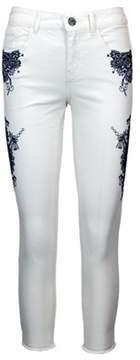 Desigual Women's White Cotton Jeans.
