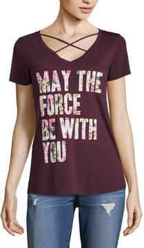 Fifth Sun Short Sleeve V Neck Star Wars Graphic T-Shirt