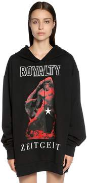 Fausto Puglisi Oversized Royalty Hooded Sweatshirt