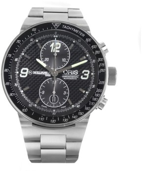 Oris Williams F1 67375634184MB Stainless Steel Black Dial Automatic 45mm Men