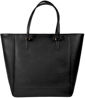 Royce Leather Royce 24 Hour Executive Saffiano Leather Tote Bag - Black