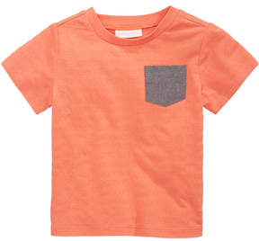First Impressions Textured Cotton Pocket T-Shirt, Baby Boys, Created for Macy's