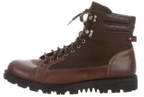 Gucci Microguccissima-Trimmed Hiking Boots