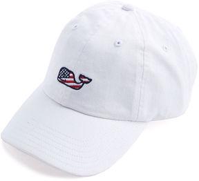 Vineyard Vines Girls Flag Whale Baseball Hat