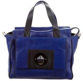 Kate Spade Bicolor Leather Satchel - BLUE - STYLE