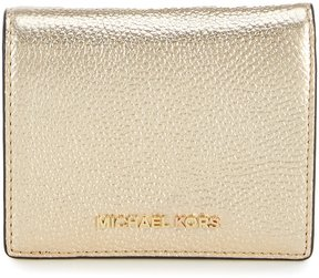 MICHAEL Michael Kors Mercer Metallic RFID Card Holder - PALE GOLD - STYLE