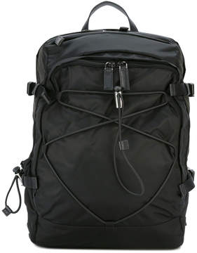 Prada elasticated lace-up backpack