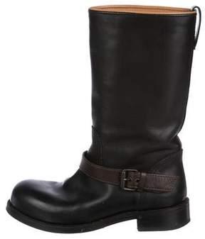 Bottega Veneta Leather Moto Boots