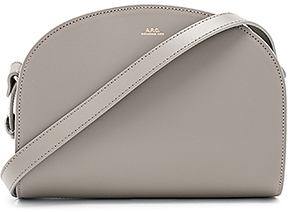 A.P.C. Demi Lune Bag in Gray.
