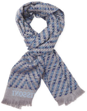 Missoni Men's Embroidered Wool Long Scarf