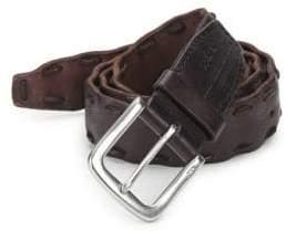 John Varvatos Pick-Stitch Leather Belt
