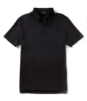 Murano Slim-Fit Rib Print Short-Sleeve Polo Shirt