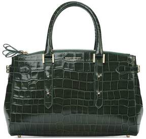 Aspinal of London Brook Street Bag In Deep Shine Black Croc