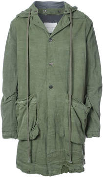Greg Lauren distressed tent jacket