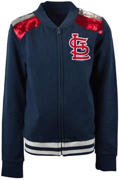 5th & Ocean St. Louis Cardinals Sequin Zip Up Jacket, Girls (4-16)