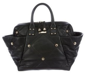 Just Cavalli Quilted Leather Handle Bag