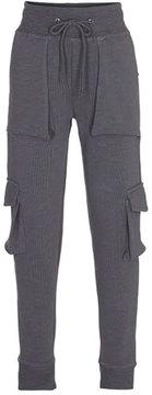 Molo Afton Soft Lounge Cargo Pants, Gray, Size 4-12