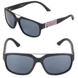 Puma 58MM Wayfarer Sunglasses
