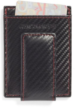 Johnston & Murphy Men's Money Clip Card Case - Black