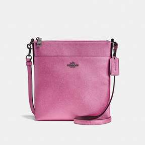 COACH Coach Messenger Crossbody - METALLIC BLUSH/DARK GUNMETAL - STYLE