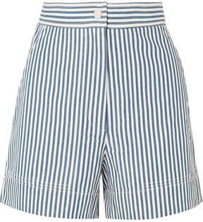 Vanessa Bruno Iparine Striped Cotton Shorts - Blue