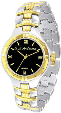 JCPenney FINE JEWELRY Mens Two-Tone Personalized Watch