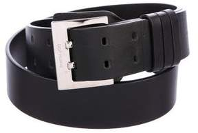 Christian Dior Leather Dual Prong Belt