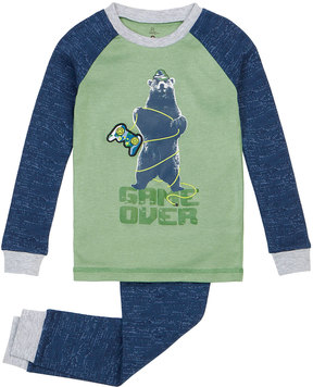 Petit Lem Boy's Game Over Two-Piece Pajama Set, Green, Size 2-6X
