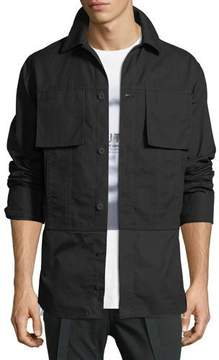 Helmut Lang Shirting-Trim Button-Front Jacket