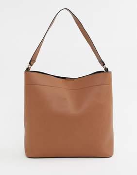 Asos DESIGN oversized structured shopper bag with contrast detail