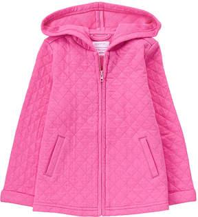Gymboree Pink Matte Quilted Jacket - Infant
