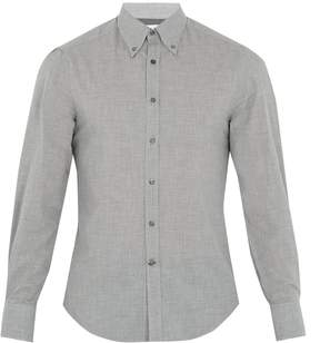 Brunello Cucinelli Button-down collar single-cuff cotton shirt