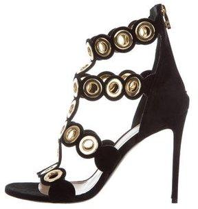 Barbara Bui Grommet-Embellished Cage Sandals