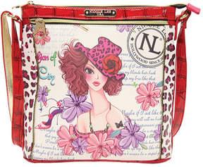 Nicole Lee Women's White Print Cross Body Bag