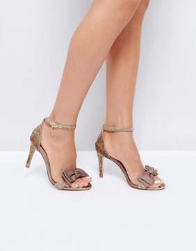 Dune London Velvet Two Part Heeled Sandals