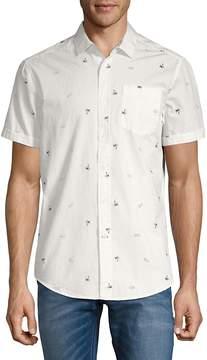 Report Collection Men's Sunglass-Print Cotton Button-Down Shirt