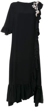 Christopher Kane crystal frill long dress