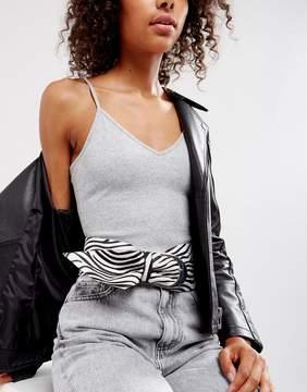 Asos 80s Zebra Print Sash Waist Belt