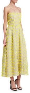 Carolina Herrera Strapless Midi Cocktail Dress