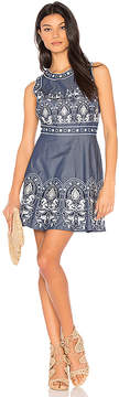 J.o.a. Embroidered Fit And Flare Dress