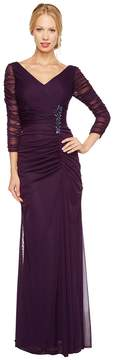 Adrianna Papell Drape Covered Gown Women's Dress