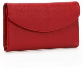 Dopp Leather Framed Organizer Clutch Wallet