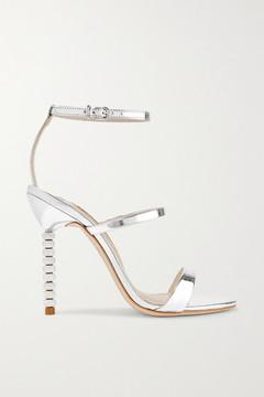Sophia Webster Rosalind Crystal-embellished Metallic Leather Sandals - Silver