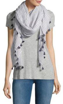 Chan Luu Striped Cotton Scarf